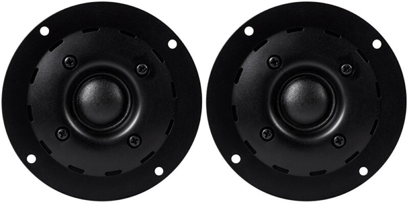 "NEW (2) 1"" Tweeter Speakers PAIR.Home Audio.Driver.60w.8ohm.4"" Frame Replacement"