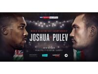 Anthony Joshua Pulev tickets Cardiff boxing AJ block L6