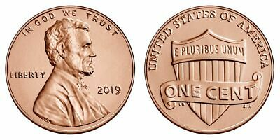 "TWO  (2)  2019 - P   BU  Lincoln Shield Pennies from Logistics Rolls. ""IN STOCK"""