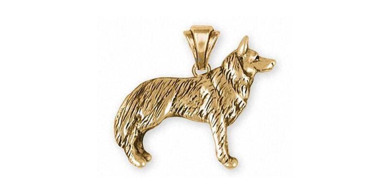 Siberian Husky Pendant Jewelry 14k Gold Handmade Dog Pendant SH20-PG