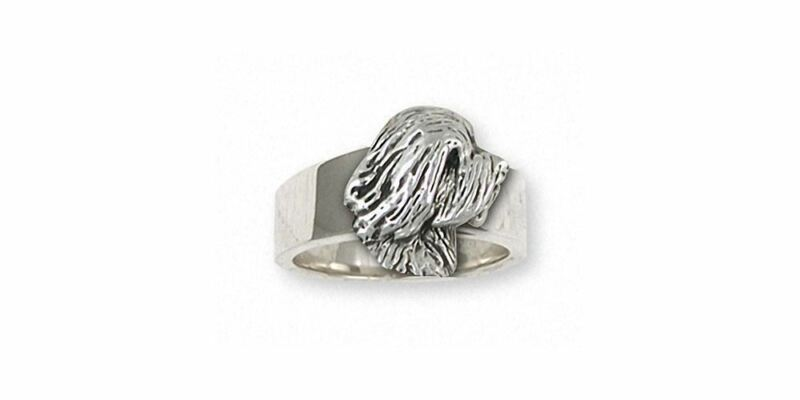 Tibetan Terrier Ring Jewelry Sterling Silver Handmade Dog Ring TTR-HR