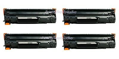 4PK New Hi-Yield Toner For HP 83X CF283X LaserJet Pro M201n M201dw M225dn M225dw