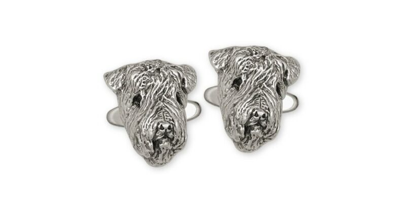 Soft Coated Wheaten Cufflinks Jewelry Sterling Silver Handmade Dog Cufflinks SC3