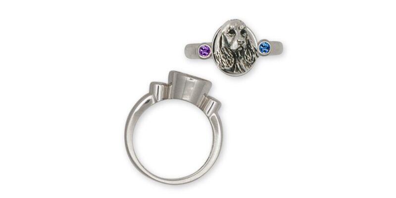 Springer Spaniel Ring Jewelry Sterling Silver Handmade Dog Ring SS4-SR