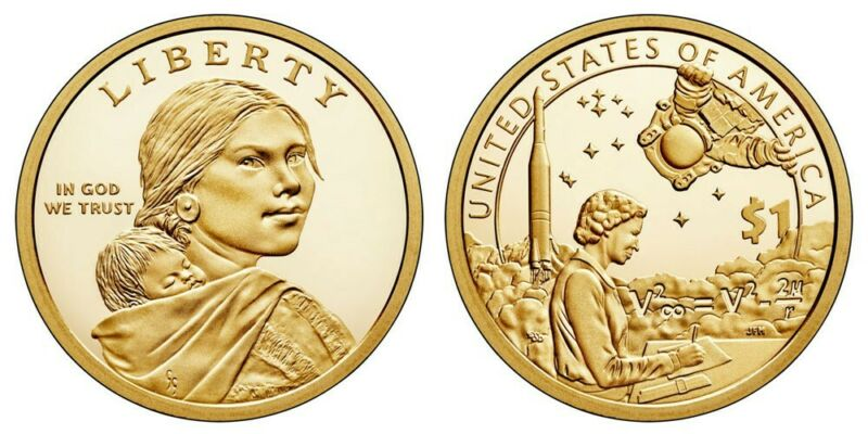 2019 P&D Sacagawea Native American Dollar In the Space Program, two coins, UNC