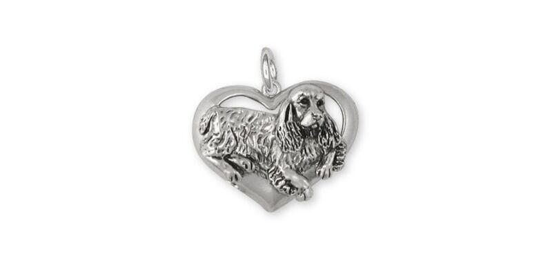Springer Spaniel Charm Jewelry Sterling Silver Handmade Dog Charm SS2-C