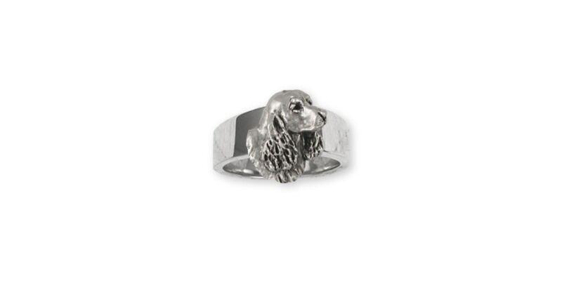 Springer Spaniel Ring Jewelry Sterling Silver Handmade Dog Ring SS6S-R