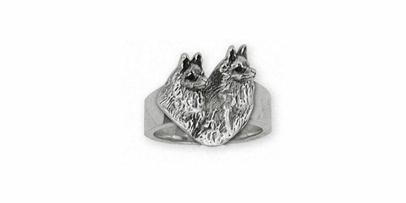 Schipperke Jewelry Sterling Silver Schipperke Ring Handmade Dog Jewelry SC6-R