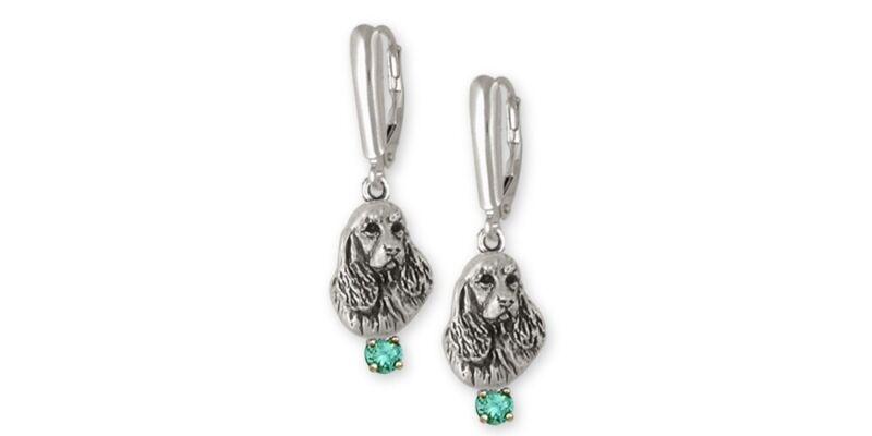 Springer Spaniel Earrings Jewelry Sterling Silver Handmade Dog Earrings SS4-SE