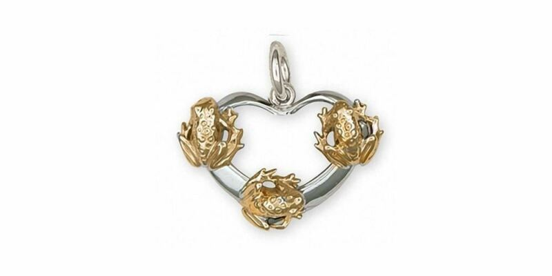Frog Charm Jewelry Silver And Gold Handmade Frog Charm FG20-TTC