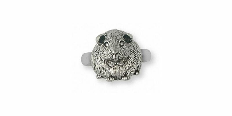 Guinea Pig Ring Jewelry Sterling Silver Handmade Piggie Ring GP12X-R