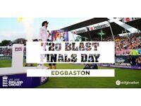 Vitality blast Finals Day x 2 Tickets