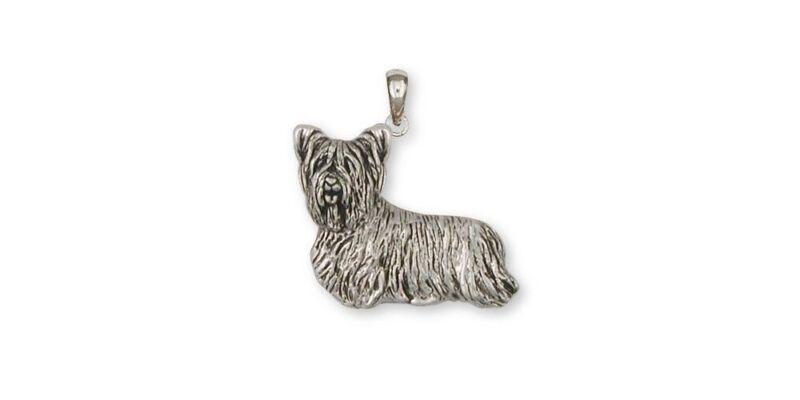 Skye Terrier Pendant Jewelry Sterling Silver Handmade Dog Pendant SKY1-P