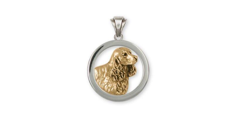 Springer Spaniel Pendant Jewelry Gold Vermeil Handmade Dog Pendant SS5-PVM