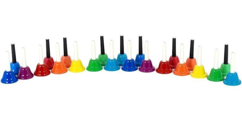 KC Bell Chorus Handbell 23 Key (A3-G5) Set BC-23K/MU Multi Color From Japan EMS