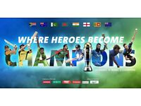 4 x GOLD India vs Sri Lanka ICC Cricket tickets