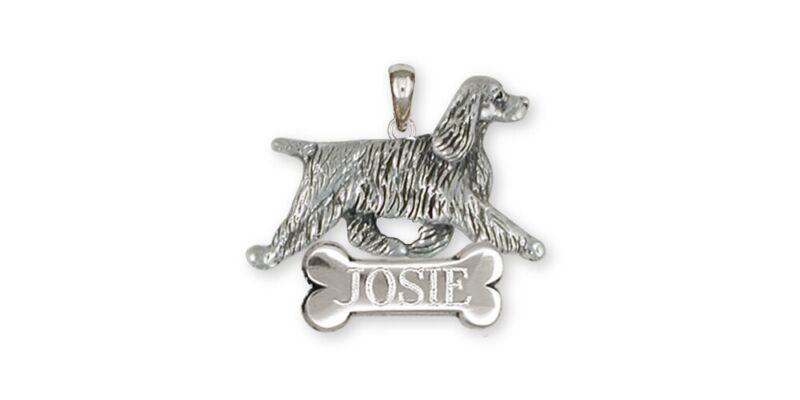 Springer Spaniel Pendant Jewelry Sterling Silver Handmade Dog Pendant SS8-NP