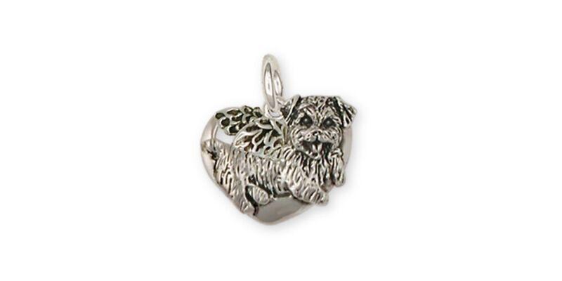 Norfolk Terrier Angel Charm Jewelry Sterling Silver Norfolk Terrier Angel Charms