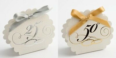 25th Silver & 50th Golden Wedding Anniversary Birthday Gift Favour Box 25th Anniversary Favor Boxes
