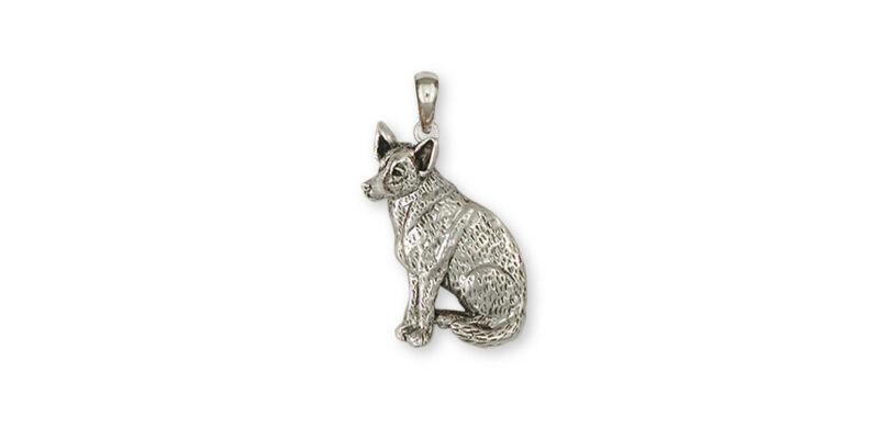 Australian Cattle Dog Pendant Jewelry Sterling Silver Handmade Dog Pendant ACD6-