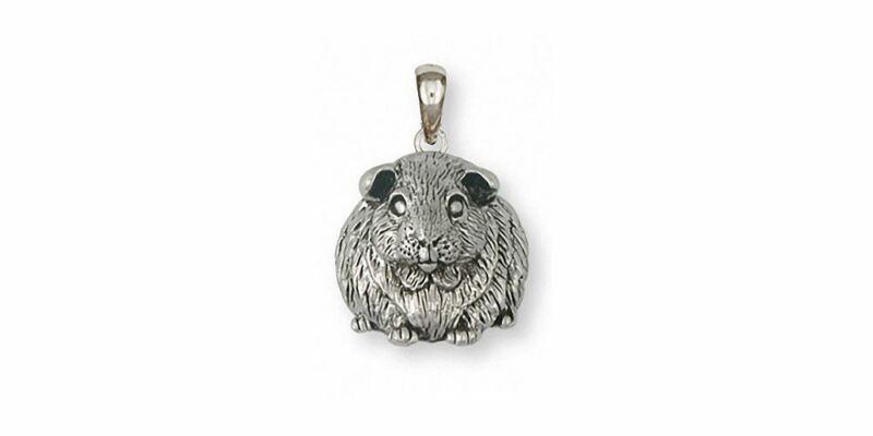 Guinea Pig Pendant Jewelry Sterling Silver Handmade Piggie Pendant GP12X-P