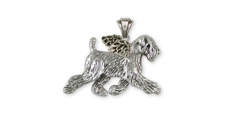 Soft Coated Wheaten Angel Pendant Jewelry Sterling Silver Handmade Dog Pendant S