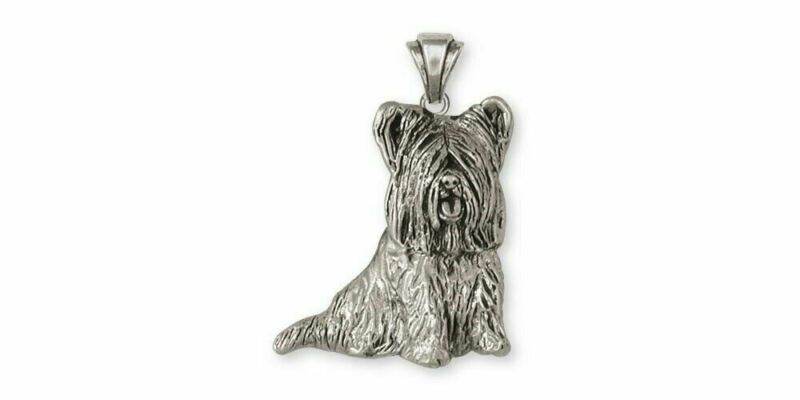 Skye Terrier Pendant Jewelry Sterling Silver Handmade Dog Pendant SKY3-P