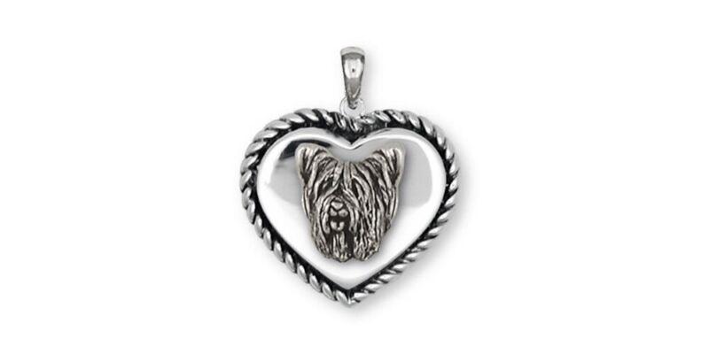 Skye Terrier Pendant Jewelry Sterling Silver Handmade Dog Pendant SKY1H-TP