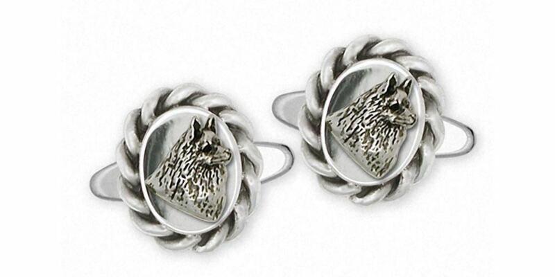Schipperke Jewelry Sterling Silver Schipperke Cufflinks Handmade Dog Jewelry SCH