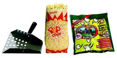 Paragon Popcorn Starter Kit 8 Ounce Popcorn Tri-packs Scoop Bags