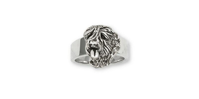 Soft Coated Wheaten Ring Jewelry Sterling Silver Handmade Dog Ring CH29-R