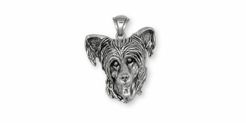 Chinese Crested Pendant Jewelry Sterling Silver Handmade Dog Pendant CC3-P