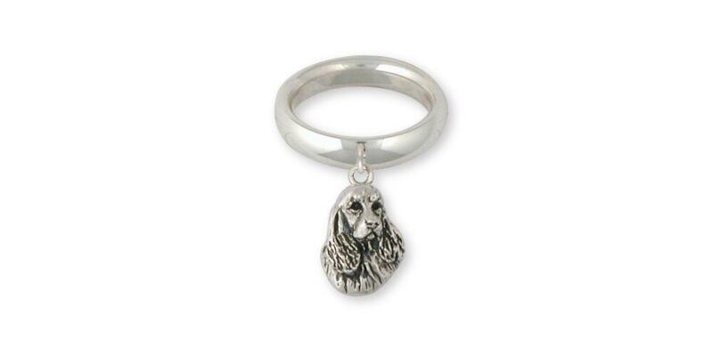 Springer Spaniel Ring Jewelry Sterling Silver Handmade Dog Ring SS4-CR