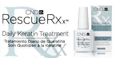 CND Creative Nail Keratin Treatment RESCUERXx Rescue Rx rescuer .5oz/15mL SALE