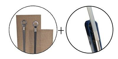 New Replacement Kit 2x 300mm Impulse Heat Sealer Element Teflon + Silicon Rubber