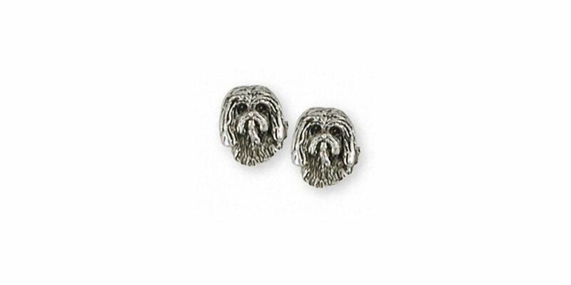 Tibetan Terrier Earrings Jewelry Sterling Silver Handmade Dog Earrings TTR1-2E
