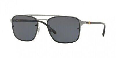 NEW Burberry 3095 Sunglasses 100381 Gunmetal 100% (Burberry Gunmetal Sunglasses)