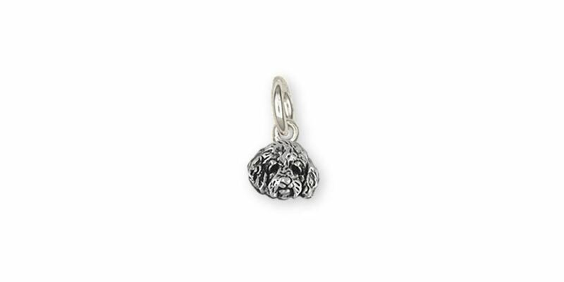 Double Goldendoodle Jewelry Sterling Silver Double Goldendoodle Charm Handmade D