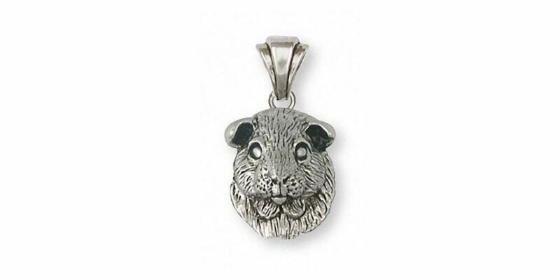 Guinea Pig Pendant Jewelry Sterling Silver Handmade Piggie Pendant GP2-P