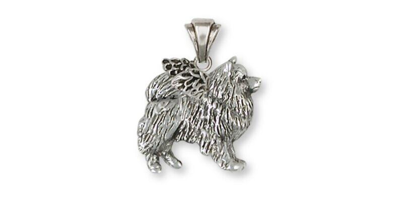 Keeshond Angel Pendant Jewelry Sterling Silver Keeshond Angel Dog Pendant KH1-AP