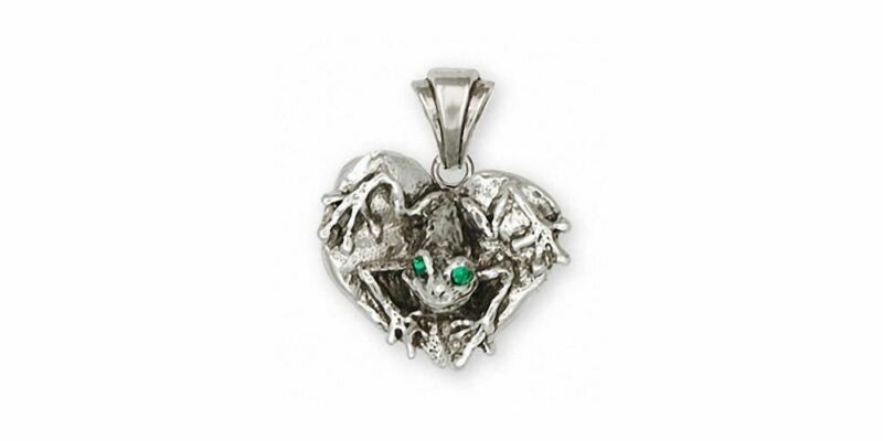 Frog Pendant Jewelry Sterling Silver Handmade Frog Pendant FG23-XP