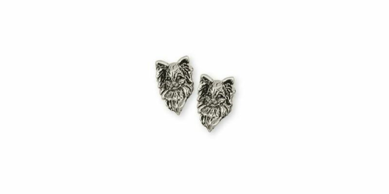 Papillon Earrings Jewelry Sterling Silver Handmade Dog Earrings PA6-E