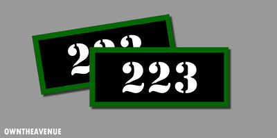 """AK-47 Ammo Can RIFLE Labels Ammunition Case stickers decal 4 pack 3/""""x1.15/"""" WT"""