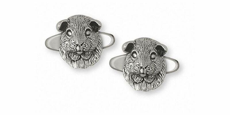 Guinea Pig Cufflinks Jewelry Sterling Silver Handmade Piggie Cufflinks GP2-CL