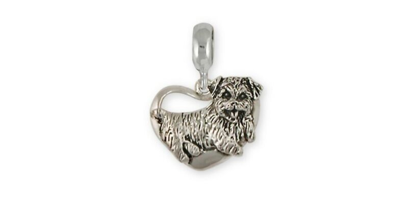 Norfolk Terrier Charm Slide Jewelry Sterling Silver Norfolk Terrier Charms And N