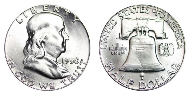 1958-P Franklin Half Dollar Brilliant Uncirculated - BU