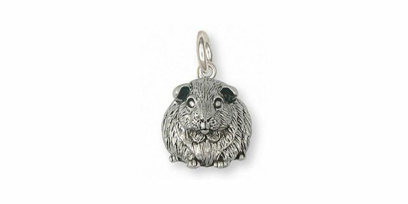 Guinea Pig Charm Jewelry Sterling Silver Handmade Piggie Charm GP12X-C