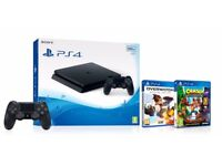 Brand New with PROOF OF PURCHASE Sony PlayStation 4 (500GB) + 2 games + 2nd Dualshock 4 Controller