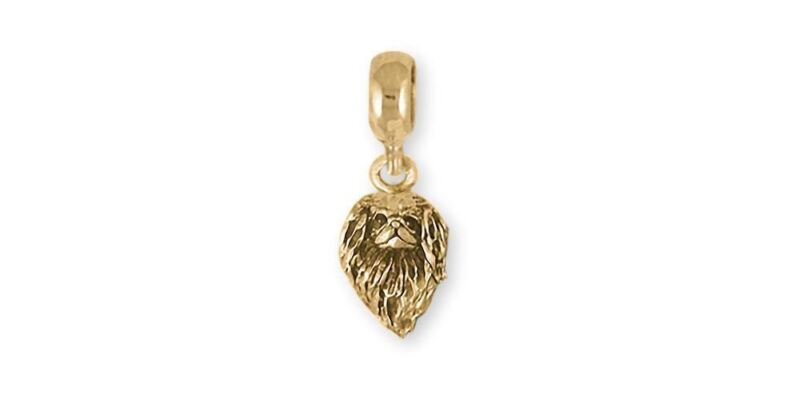 Japanese Chin Charm Slide Jewelry 14k Gold Handmade Chin Charm Slide JC9-PNSG