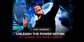 Tony Robbins April 2018 VIP (£2,599 Value) TICKET for £850
